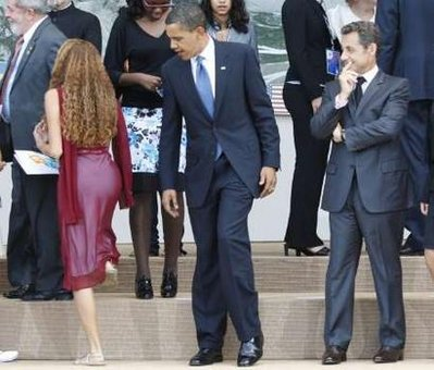 Even President's appreciate a beautiful  woman's body