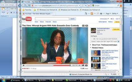 """Whoppi throws up her hands in disgust as she says """"I can't deal with this."""""""
