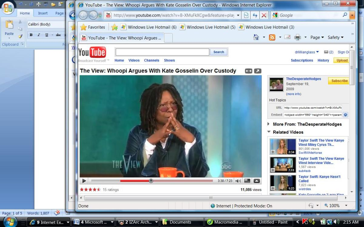 "Whoopi being fair and objective host as indicated by her ""steepling"","