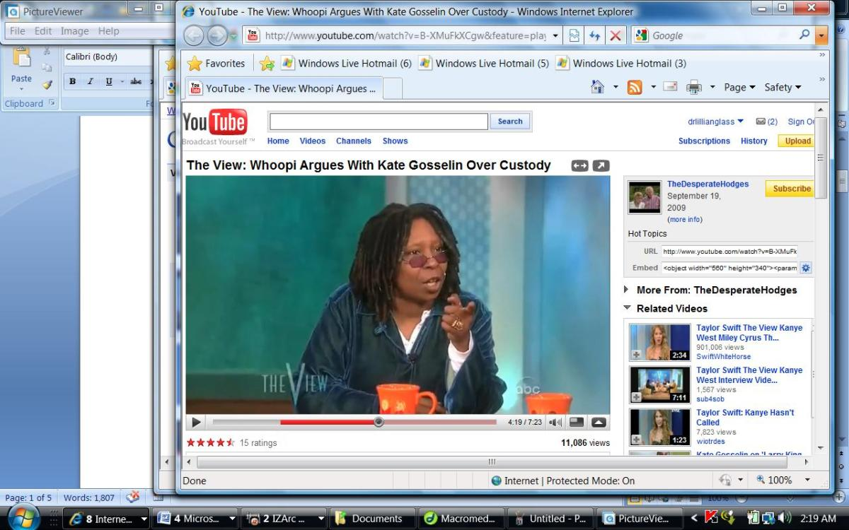 Whoopi tels Kate she could have gone to jail which KAte laughs off.