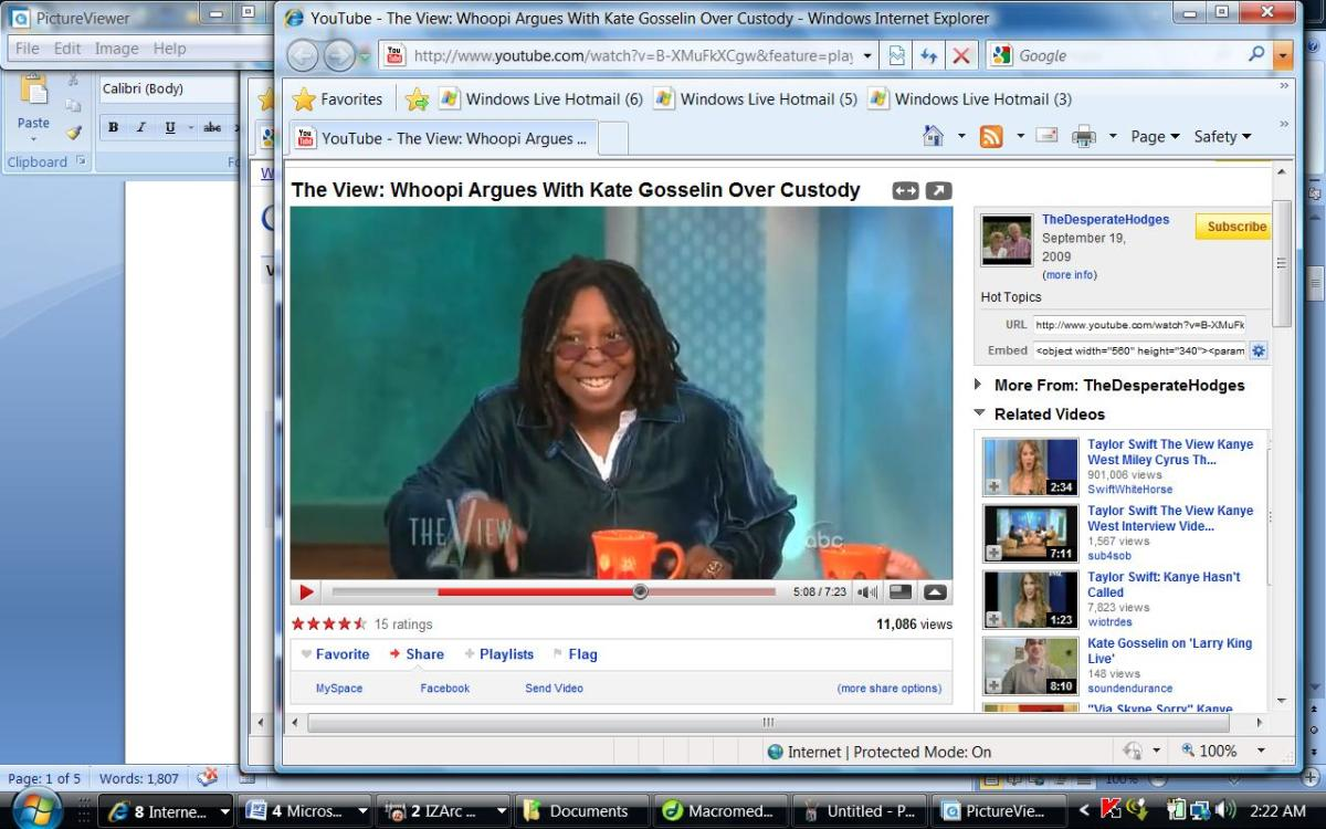 Midshow and Whoopi is livid and she beats on desk with her fingers that are cupped indicating anger.