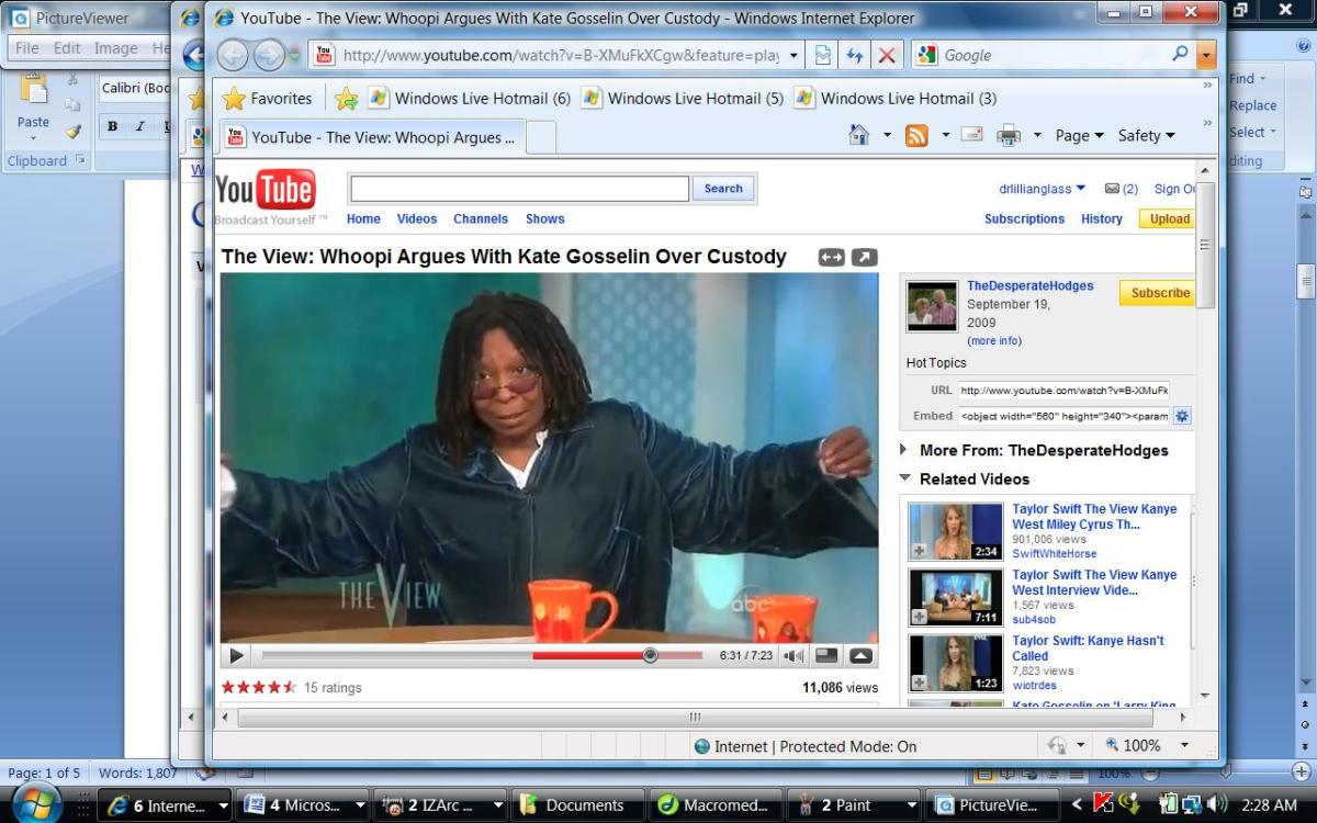 Whoopi is told by producers to make the segment longer- stretch it. She's not happy about  it