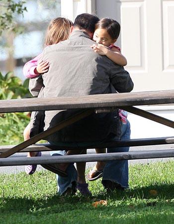 Lean and Hannah hugging JOn