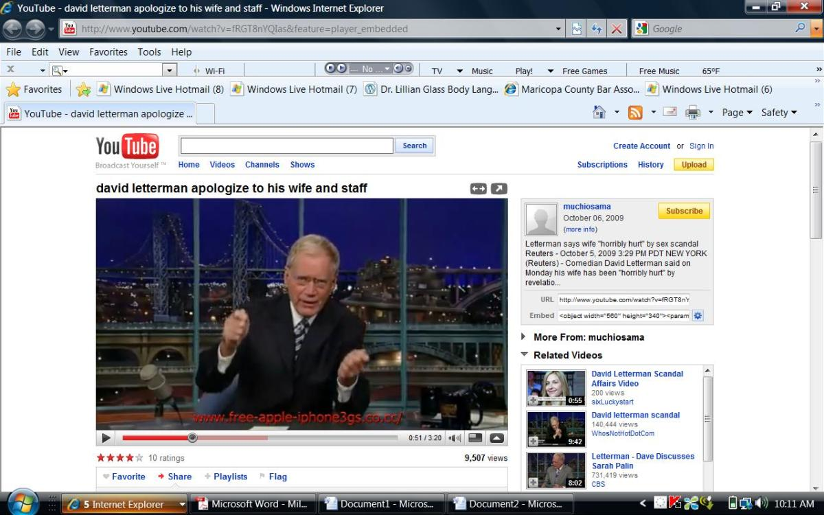 letterman angry