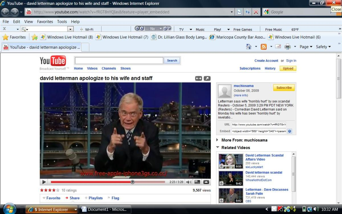 letterman both fingers pointing